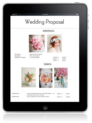 Free Wedding/Event Proposal Manager | Floranext - Florist Websites ...