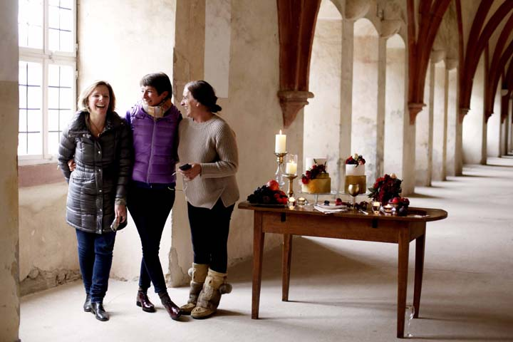 The design team at Flora Nova Design for Wedding Style Shoot in Kloster Eberbach, Germany, designed by Flora Nova Design, Seattle