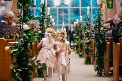 Flora Nova Design Seattle Flower girls wedding greenery candelabras
