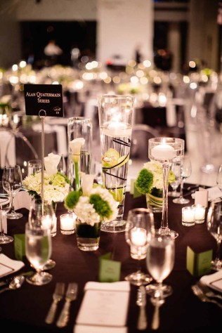 Flora Nova Design Seattle - Contemporary Black and White Seattle Art Museum Wedding Reception