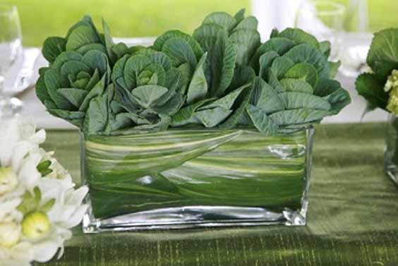 Flora Nova Design Seattle Ornamental Kale Centerpiece