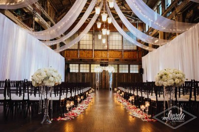 Flora Nova Design Seattle Luxury White Wedding Sodo Park Ceremony