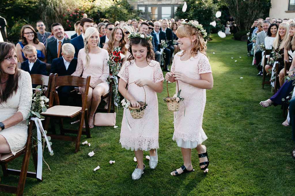 Flower girls at a Seattle garden wedding - Flora Nova Design Seattle