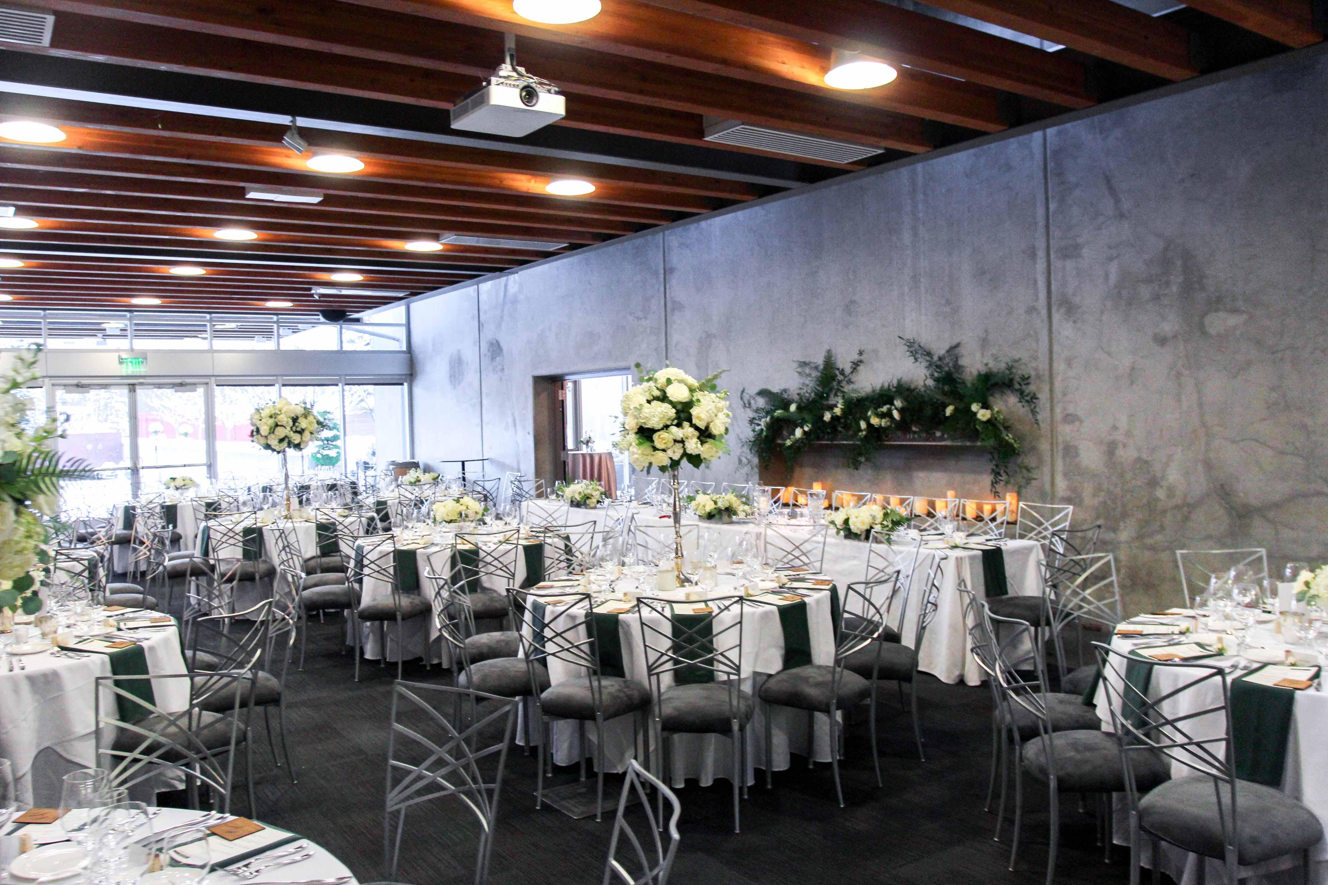 wedding reception inside Novelty Hill Winery