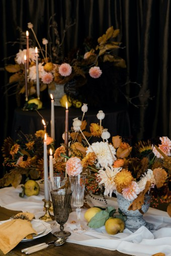 Fall flower centerpieces for the Thanksgiving dinner table - Decorating for the Holidays - FLORA NOVA DESIGN SEATTLE