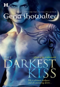 book cover for Lords of the Underworld 2 - The Darkest Kiss by Gena Showalter
