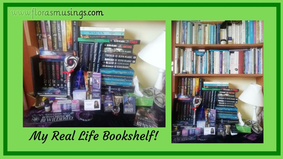 My Real Life Bookshelf of paperbacks and hardbacks