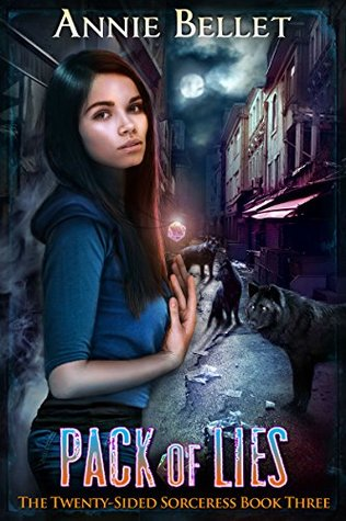 book cover for The Twenty-Sided Sorceress book 3 -Pack of Lies by Annie Bellet