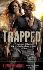 book cover for The Iron Druid Chronicles book 5 - Trapped by Kevin Hearne