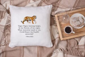 Cushion of The Tyger by William Blake - Literary Lodge on Etsy