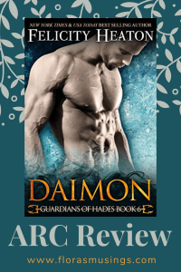 Pinterest Pin - ARC Review - Guardians of Hades 6 - Daimon by Felicity Heaton (1)