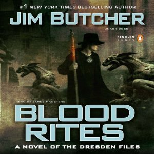 audiobook cover for The Dresden Files 6 - Blood Rites by Jim Butcher. Narrated by James Marsters