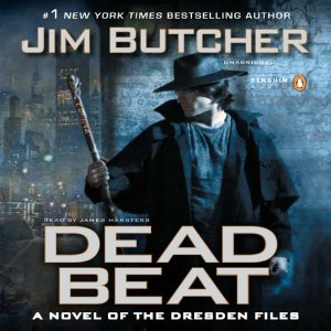 audiobook cover for The Dresden Files 7 - Dead Beat by Jim Butcher . Narrated by James Marsters