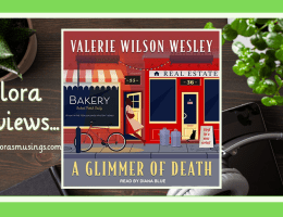 ALC Featured Image - Odessa Jones Mystery 1 - A Glimmer of Death by Valerie Wilson Wesley - Narrator Diana Blue