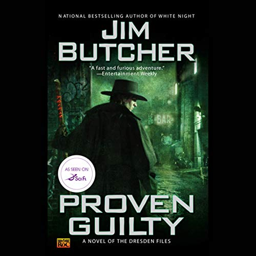 audiobook cover for The Dresden Files 8 - Proven Guilty by Jim Butcher - Narrated by James Marsters