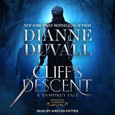 audiobook cover for Immortal Guardians 11 - Cliff's Descent by Dianne Duvall - Read by Kirsten Potter