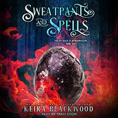 audiobook cover for Midlife Magic in Marshmallow 1 - Sweatpants and Spells by Keira Blackwood - Read by Traci Odom