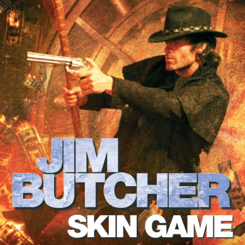 audiobook cover for The Dresden Files 15 - Skin Game by Jim Butcher - Read by James Marsters