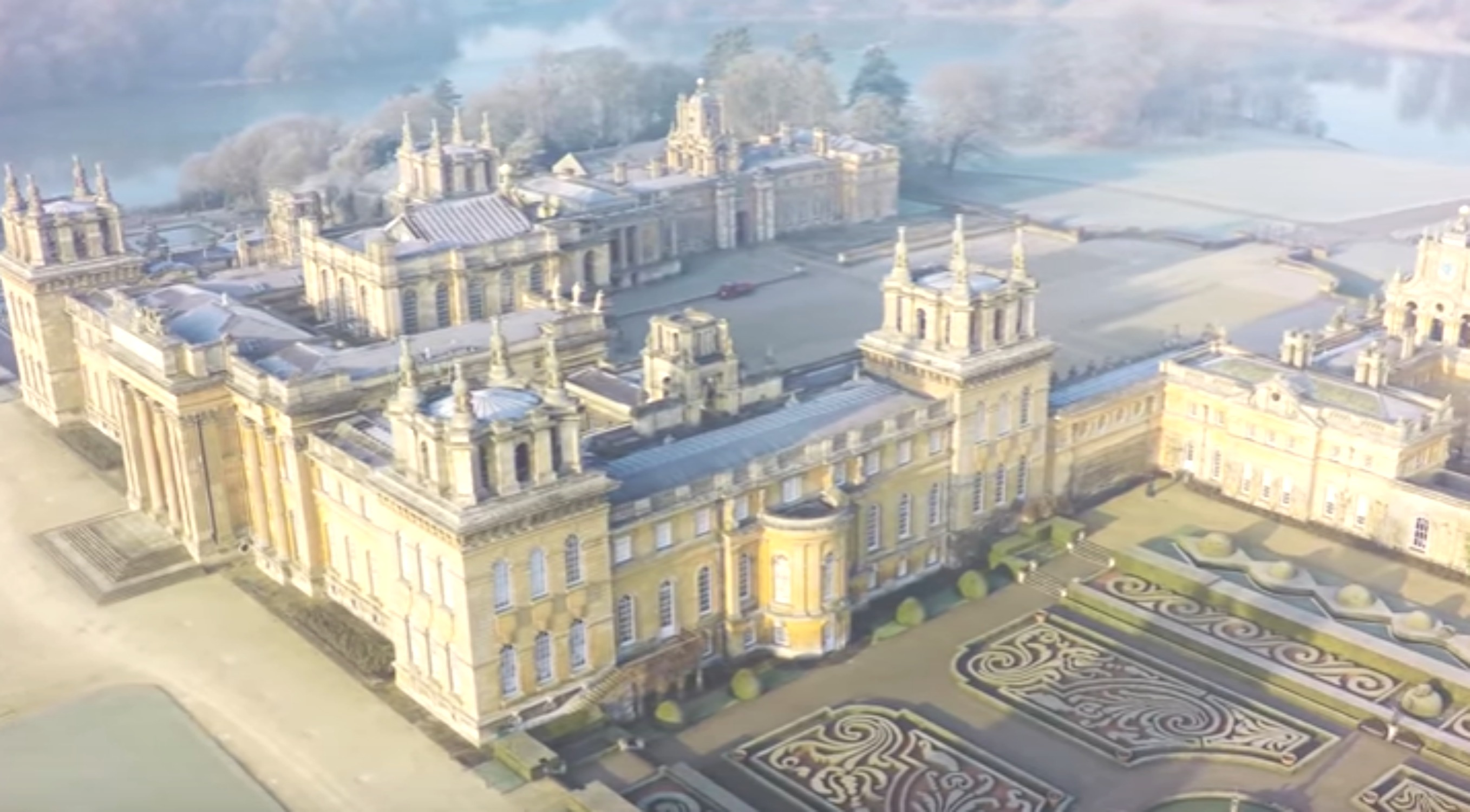 Blenheim Palace Under Frost