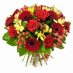 bouquet fleurs amour maroc