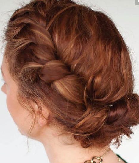 chignon roux, florence coiffure artigues