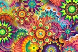 Auf Seelenebene wirken - Farben kombiniert mit Fussreflexzonen-Massage - psychedelic 1084082