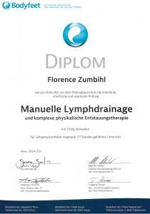 Manuelle Lymphdrainage Diplom Florence Zumbihl