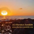 Magischer Sonnenuntergang mit Engel