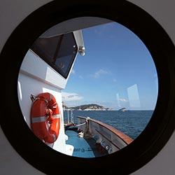 Cinque Terre na lodi