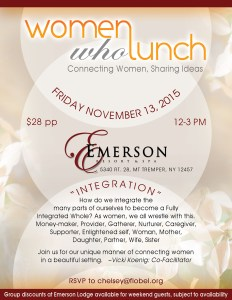 Women who Lunch @ Emerson 11 - 13 - 5