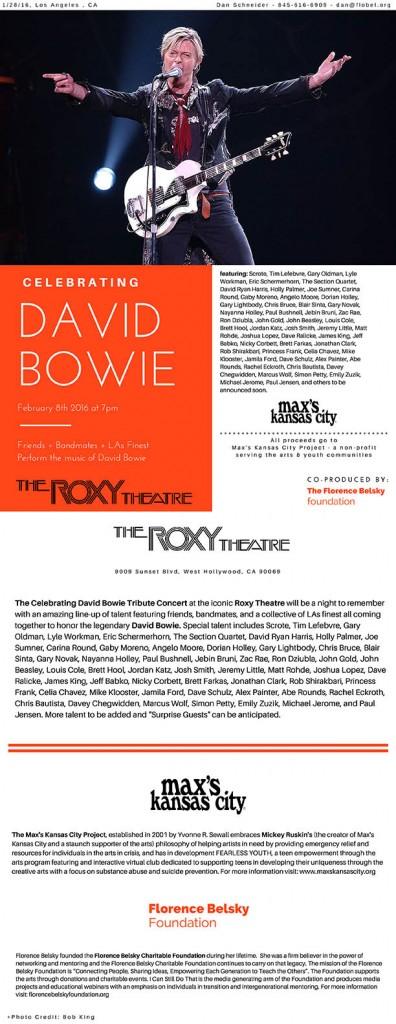 David Bowie Press Release