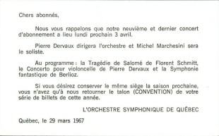 1967 OSQ Invitation Schmitt Dervaux