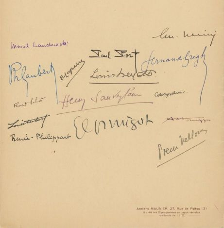 Paul Fort honorary concert Paris Conservatoire 1936