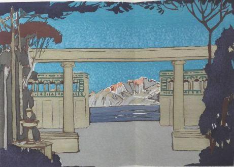 Florent Schmitt Tragedie de Salome set design