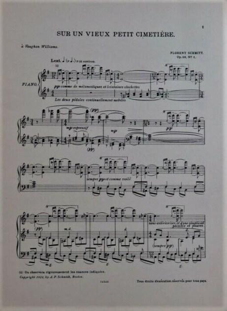 Florent Schmitt Crepuscules score first page