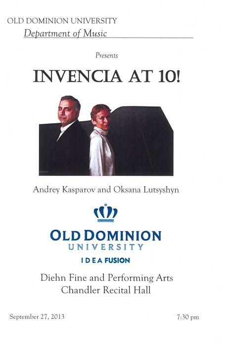 Invencia Piano Duo 10th Anniversary Recital