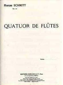 Florent Schmitt Flute Quartet score
