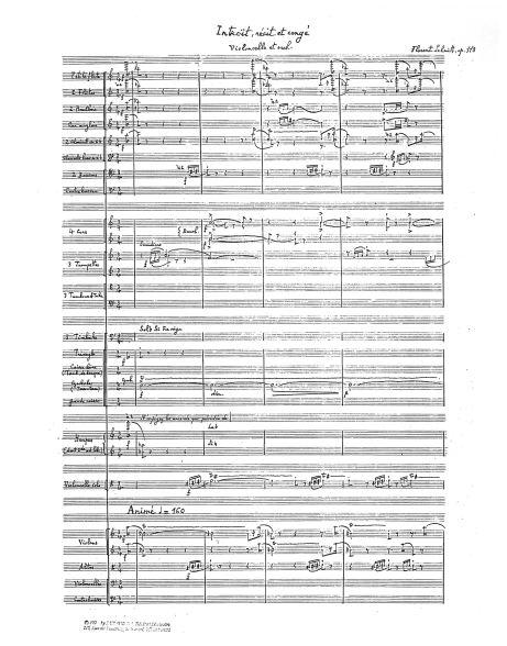 Florent Schmitt Introit recit et conge manuscript