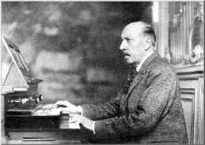 Charles-Marie Widor, French organist and composer (1844-1937).