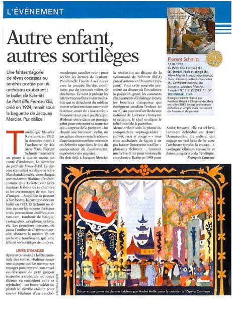Diapason d'Or Florent Schmitt Mercier Lorraine