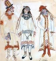 Costume designs LKe Sacre du printemps Nicolas Roerich