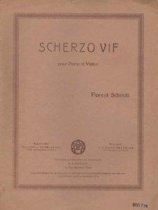 Florent Schmitt Szherzo vif score