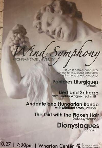 MSU Wind Symphony Concert Program