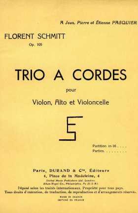 Florent Schmitt String Trio score