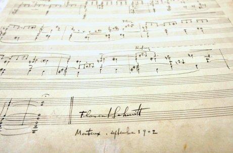 Musiques intimes Florent Schmitt manuscript page
