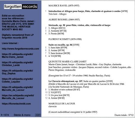 Forgotten Records Ravel Roussel Schmitt de Lacour