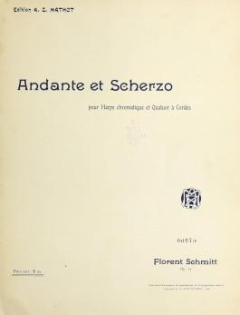 Florent Schmitt Andante et scherzo score cover