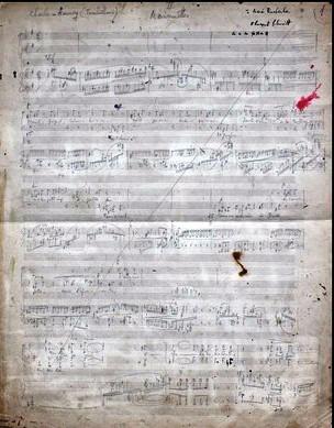 Florent Schmitt Six choeurs Marionnettes working manuscript