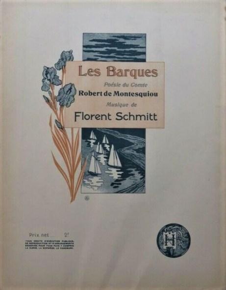 Florent Schmitt Les Barques score
