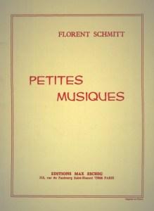 Florent Schmitt Petites musiques score cover Eschig